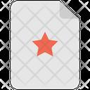 Star Favorite File Save File Icon
