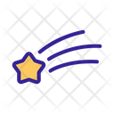 Space Star Shooting Icon