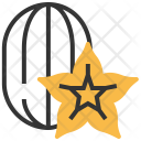 Star Apple Fruit Icon