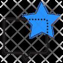 Star Speech Bubble Favorite Icon