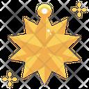 Star Christmas Tree Decoration Icon