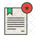 Star Favorite Certificate Icon