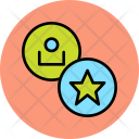 Star User Employee Icon