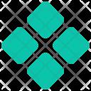 Star Four Square Icon