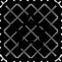 Star Rectangle Icon