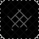 Rectangle Star Feedback Icon