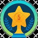 Star Award Star Trophy Golden Trophy Icon
