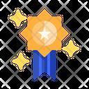 Star Badge Ribbon Medal Icon