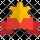 Star Badge Ribbon Badge Star Ribbon Icon