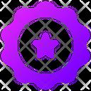 Star Badge Ribbon Badge Award Badge Icon