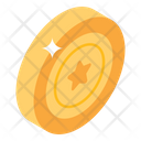 Fancy Game Casino Chip Star Coin Icon