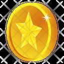 Gold Coin Star Coin Casino Coin Icon