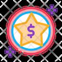 Dollar Star Bonus Icon
