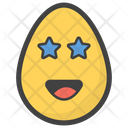 Star Eye Egg Emoji Emoticon Icon