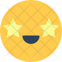 Star Face Smiley Icon