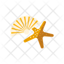 Shell Starfish Beach Icon