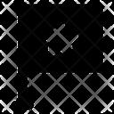 Star Flag Flagpole Streaming Flag Icon