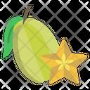 Star Fruit Fruit Food Icon
