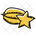 Fruit Star Fruit Healthy Diet Icon