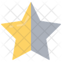Star Half Unlike Unfavorite Icon