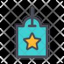 Star Label Label Tag Icon