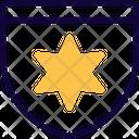 David Star Medal Of Guard Icon