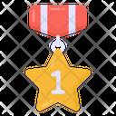 Gold Medal Star Medal Honour Icon