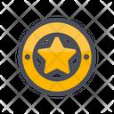Star Medal Award Badge Achievement Icon
