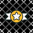 Star Ribbon Ribbon Badge Icon
