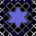David Star Shield Medal Icon