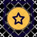 Star Circle Shield Medal Icon