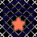 Two Stripe Shield Icon