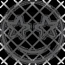 Emoticon Star Struck Stas Eye Emoji Icon