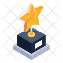 Star Trophy Award Winning Cup Icon