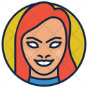 Starfire Girl Dark Knight Villain Icon