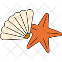 Starfish and seashell Icon