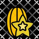 Starfruit Nature Tropical Icon