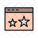 Starred Browser Stars Icon