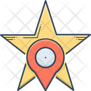 Starred Location Geometric Icon