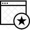 Window Star Starred Website Starred Window Icon