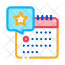 Starry Day Calendar Icon