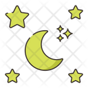 Starry Night Night Time Stars Icon