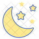 Starry Night Night Time Galaxy Icon
