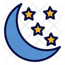 Starry Night Night Night Time Icon