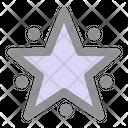 Stars Decoration Xmas Icon
