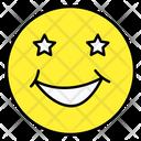 Stars Eyes Emoji Emoticon Smiley Icon