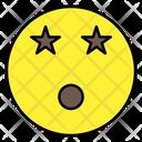 Stars Eyes Emoji Emoticon Emotion Icon
