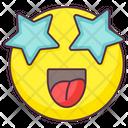 Starstruck Emoji Starstruck Expression Emotag Icon