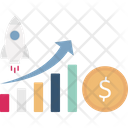 Start Up Growth Business Launch Icon