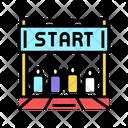 Start Run Color Icon
